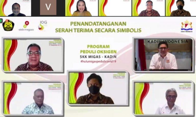 Hulu Migas – Kadin Indonesia Bersinergi Siapkan Oksigen Untuk Penanggulangan Covid-19